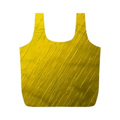 Golden Texture Rough Canvas Golden Full Print Recycle Bags (m)