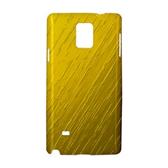 Golden Texture Rough Canvas Golden Samsung Galaxy Note 4 Hardshell Case