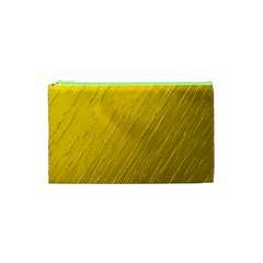 Golden Texture Rough Canvas Golden Cosmetic Bag (xs)