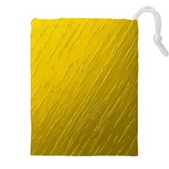 Golden Texture Rough Canvas Golden Drawstring Pouches (xxl)