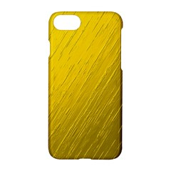 Golden Texture Rough Canvas Golden Apple Iphone 7 Hardshell Case