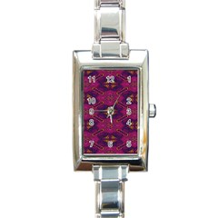 Pattern Decoration Art Abstract Rectangle Italian Charm Watch