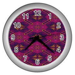 Pattern Decoration Art Abstract Wall Clocks (silver)
