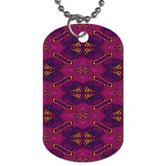 Pattern Decoration Art Abstract Dog Tag (two Sides)