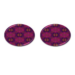 Pattern Decoration Art Abstract Cufflinks (oval)