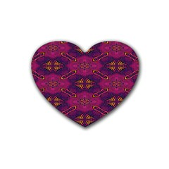 Pattern Decoration Art Abstract Heart Coaster (4 Pack)
