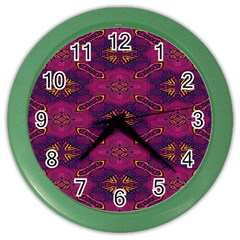 Pattern Decoration Art Abstract Color Wall Clocks
