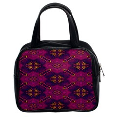 Pattern Decoration Art Abstract Classic Handbags (2 Sides)