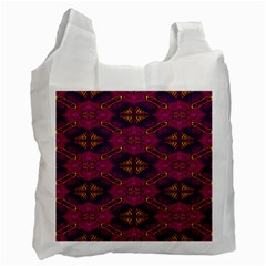 Pattern Decoration Art Abstract Recycle Bag (one Side)