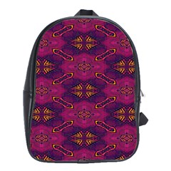Pattern Decoration Art Abstract School Bag (large) by Nexatart