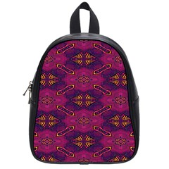 Pattern Decoration Art Abstract School Bag (small)