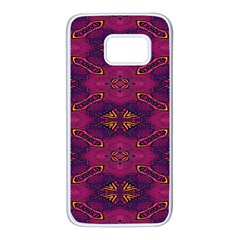 Pattern Decoration Art Abstract Samsung Galaxy S7 White Seamless Case