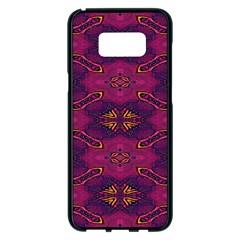 Pattern Decoration Art Abstract Samsung Galaxy S8 Plus Black Seamless Case