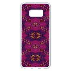 Pattern Decoration Art Abstract Samsung Galaxy S8 Plus White Seamless Case