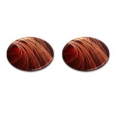 Abstract Fractal Digital Art Cufflinks (oval)