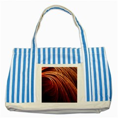 Abstract Fractal Digital Art Striped Blue Tote Bag