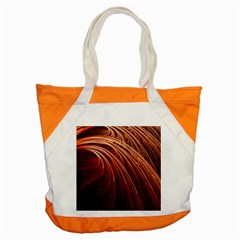 Abstract Fractal Digital Art Accent Tote Bag