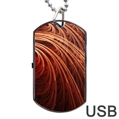 Abstract Fractal Digital Art Dog Tag Usb Flash (two Sides)
