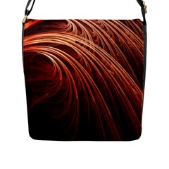Abstract Fractal Digital Art Flap Messenger Bag (l)