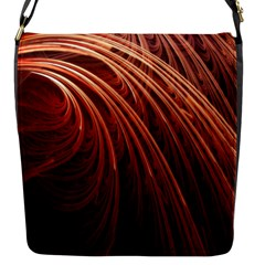 Abstract Fractal Digital Art Flap Messenger Bag (s)