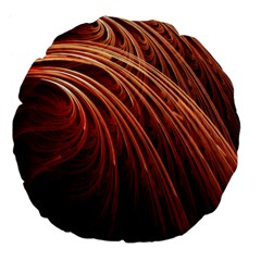 Abstract Fractal Digital Art Large 18  Premium Flano Round Cushions