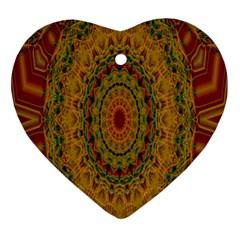 India Mystic Background Ornamental Ornament (heart)