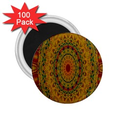 India Mystic Background Ornamental 2 25  Magnets (100 Pack)
