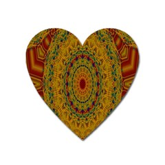 India Mystic Background Ornamental Heart Magnet