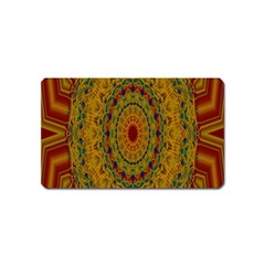 India Mystic Background Ornamental Magnet (name Card) by Nexatart