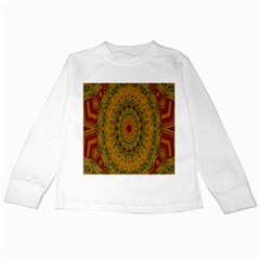 India Mystic Background Ornamental Kids Long Sleeve T Shirts