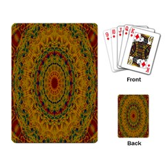 India Mystic Background Ornamental Playing Card