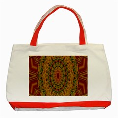 India Mystic Background Ornamental Classic Tote Bag (red)