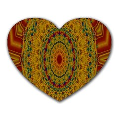 India Mystic Background Ornamental Heart Mousepads