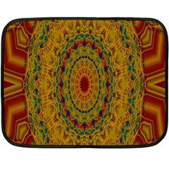 India Mystic Background Ornamental Fleece Blanket (mini)