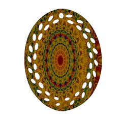 India Mystic Background Ornamental Ornament (oval Filigree)