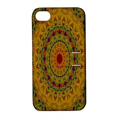 India Mystic Background Ornamental Apple Iphone 4/4s Hardshell Case With Stand