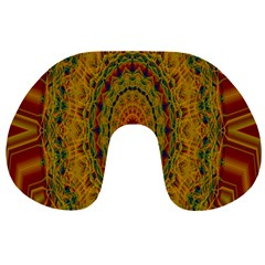 India Mystic Background Ornamental Travel Neck Pillows