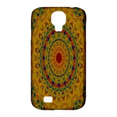 India Mystic Background Ornamental Samsung Galaxy S4 Classic Hardshell Case (pc+silicone)