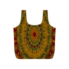 India Mystic Background Ornamental Full Print Recycle Bags (s)