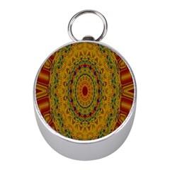India Mystic Background Ornamental Mini Silver Compasses by Nexatart