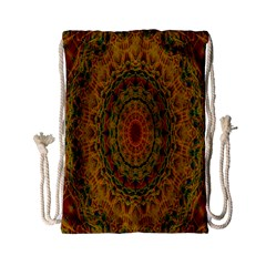 India Mystic Background Ornamental Drawstring Bag (small)