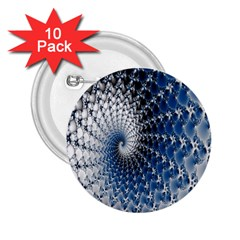 Mandelbrot Fractal Abstract Ice 2 25  Buttons (10 Pack)
