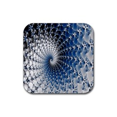 Mandelbrot Fractal Abstract Ice Rubber Square Coaster (4 Pack)