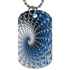 Mandelbrot Fractal Abstract Ice Dog Tag (two Sides)