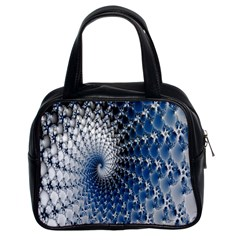 Mandelbrot Fractal Abstract Ice Classic Handbags (2 Sides) by Nexatart