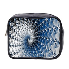 Mandelbrot Fractal Abstract Ice Mini Toiletries Bag 2 Side