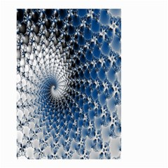 Mandelbrot Fractal Abstract Ice Small Garden Flag (two Sides)