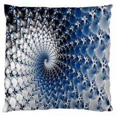 Mandelbrot Fractal Abstract Ice Large Cushion Case (two Sides)