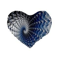 Mandelbrot Fractal Abstract Ice Standard 16  Premium Heart Shape Cushions by Nexatart