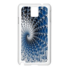 Mandelbrot Fractal Abstract Ice Samsung Galaxy Note 3 N9005 Case (white)